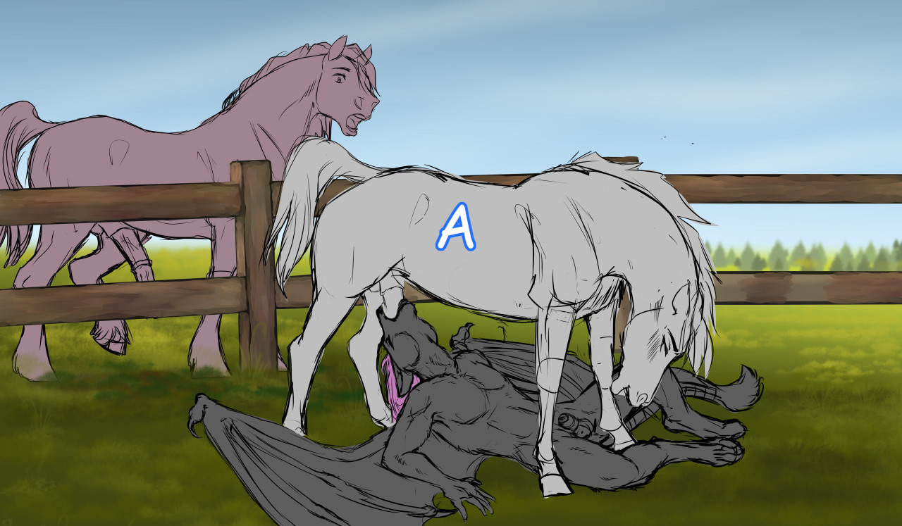 male gay oral sex hybrid equine open ych